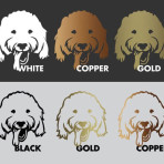 GROOVY GOLDENDOODLE dog vinyl decal